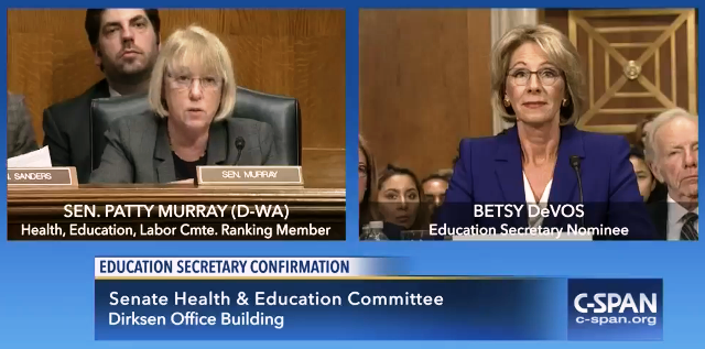 DeVos and Sen. Murray